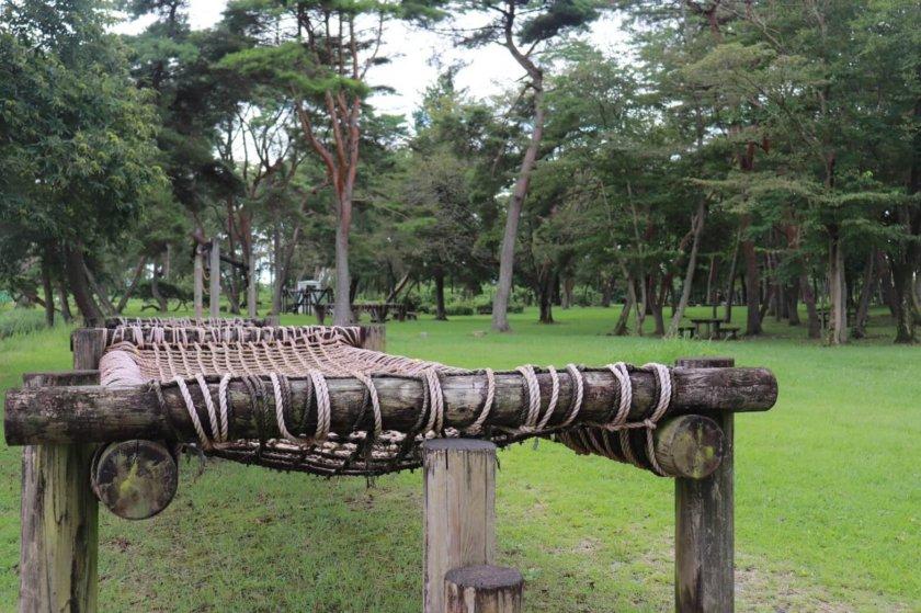 高根沢グリーンパーク 水中アスレチック 栃木お出かけ 自然